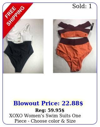 xoxo women's swim suits one piece choose color siz