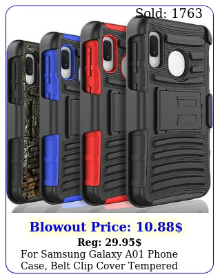 samsung galaxy a phone case belt clip cover  tempered glass protecto