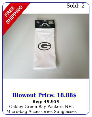 oakley green bay packers nfl microbag accessories sunglasses cloth cleaner nw