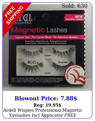 ardell wispies professional magnetic eyelashes incl applicator free shippin