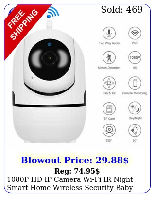 p hd ip camera wifi ir night smart home wireless security baby monitor cct