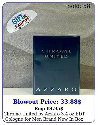 chrome united by azzaro oz edt cologne men brand in bo