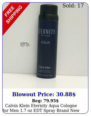 calvin klein eternity aqua cologne men oz edt spray brand i