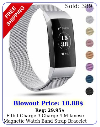 fitbit charge charge milanese magnetic watch band strap bracelet replacemen