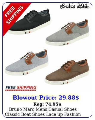 bruno marc mens casual shoes classic boat shoes lace up fashion sneaker us siz