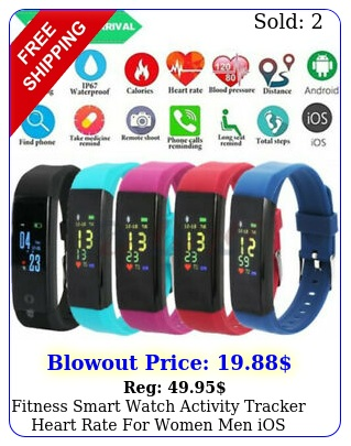 fitness smart watch activity tracker heart rate women men ios android gift