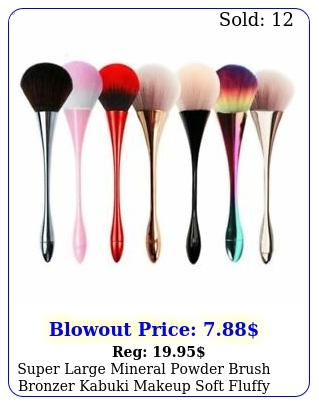 super large mineral powder brush bronzer kabuki makeup soft fluffy foundatio