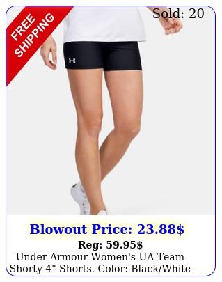 under armour women's ua team shorty shorts color blackwhit