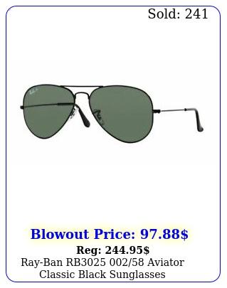 rayban rb aviator classic black sunglasse