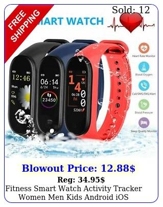 fitness smart watch activity tracker women men kids android ios fitbit style u