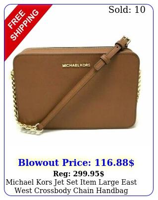 michael kors jet set item large east west crossbody chain handbag clutch luggag