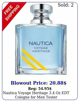 nautica voyage heritage oz edt cologne men teste