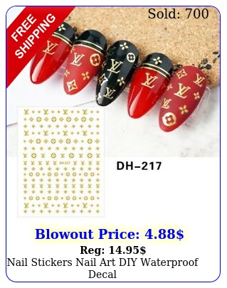 nail stickers nail art diy waterproof deca