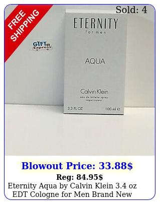 eternity aqua by calvin klein oz edt cologne men brand teste