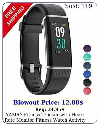 yamay fitness tracker with heart rate monitor fitness watch activity blac