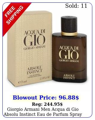 giorgio armani men acqua di gio absolu instinct eau de parfum spray o