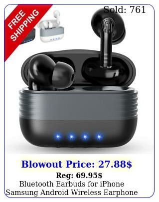 bluetooth earbuds iphone samsung android wireless earphone waterproof ip