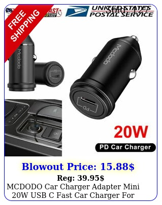 mcdodo car charger adapter mini w usb c fast car charger iphone pro ma