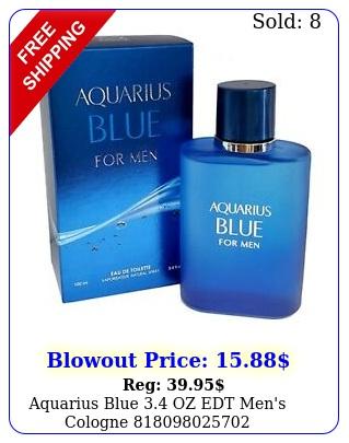 aquarius blue oz edt men's cologn
