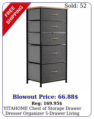 yitahome chest of storage drawer dresser organizer drawer living room shel