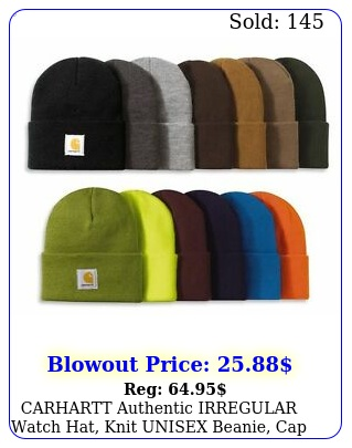 carhartt authentic irregular watch hat knit unisex beanie cap one size
