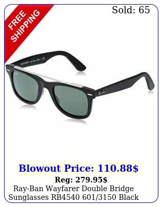 rayban wayfarer double bridge sunglasses rb black w g gree