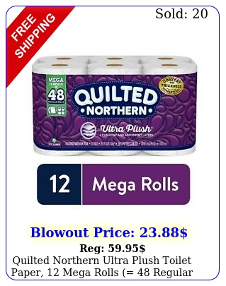 quilted northern ultra plush toilet paper mega rolls  regular roll