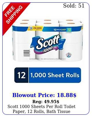 scott sheets roll toilet paper rolls bath tissu
