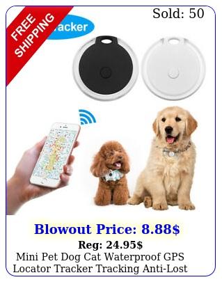 mini pet dog cat waterproof gps locator tracker tracking antilost device blac