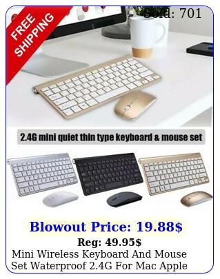 mini wireless keyboard mouse set waterproof g mac apple pc compute