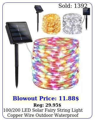 led solar fairy string light copper wire outdoor waterproof garden deco