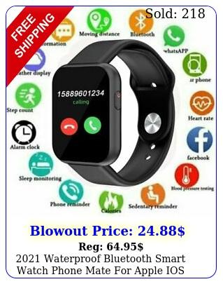 waterproof bluetooth smart watch phone mate apple ios android samsun