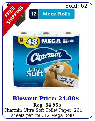 charmin ultra soft toilet paper sheets roll mega roll
