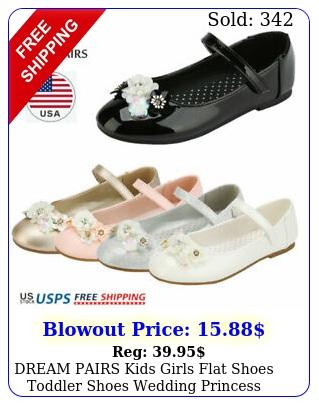 dream pairs kids girls flat shoes toddler shoes wedding princess dress shoe