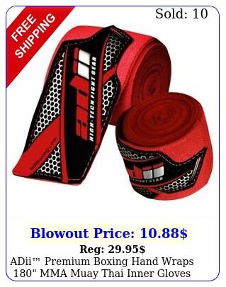 adii premium boxing hand wraps mma muay thai inner gloves wrap bandages