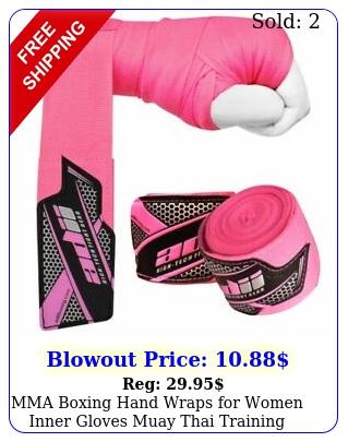 mma boxing hand wraps women inner gloves muay thai training bandage pin