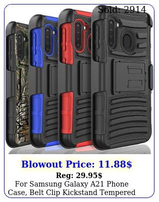 samsung galaxy a phone case belt clip kickstand tempered glass protecto