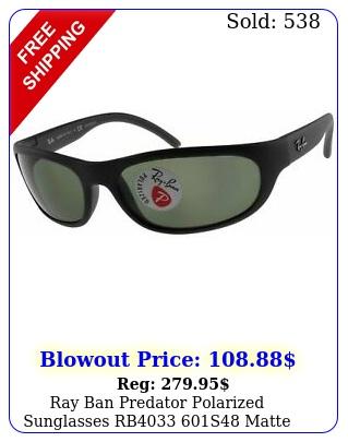 ray ban predator polarized sunglasses rb s matte black w g gree