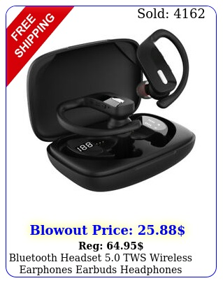 bluetooth headset tws wireless earphones earbuds headphones stereo ear hoo