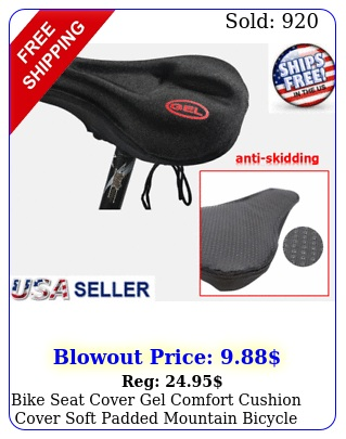 bike seat cover gel comfort cushion cover soft padded mountain bicycle saddl