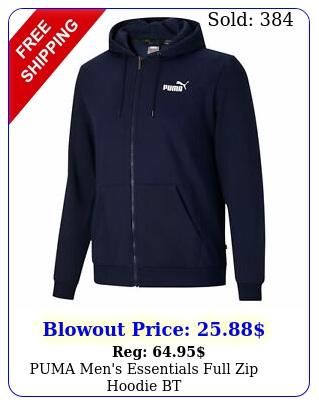 puma men's essentials full zip hoodie b