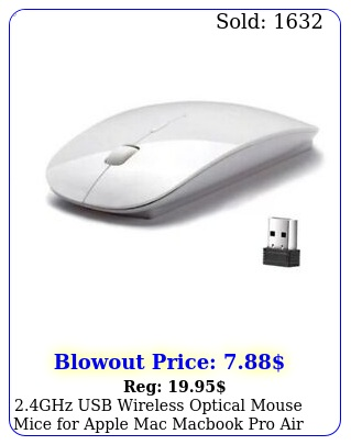 ghz usb wireless optical mouse mice apple mac macbook pro air pc whit