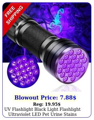 uv flashlight black light flashlight ultraviolet led pet urine stains detecto