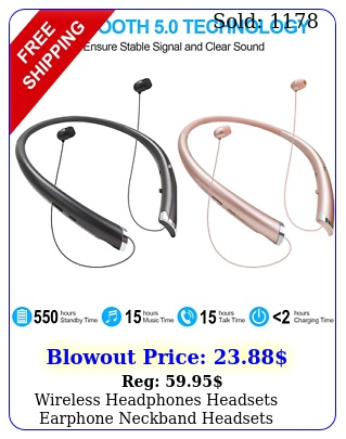wireless headphones headsets earphone neckband headsets neckband wmicsport