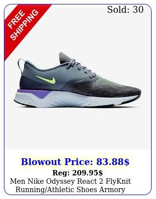 men nike odyssey react flyknit runningathletic shoes armory bgray a