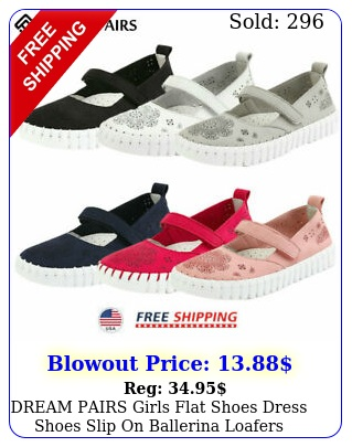 dream pairs girls flat shoes dress shoes slip on ballerina loafer