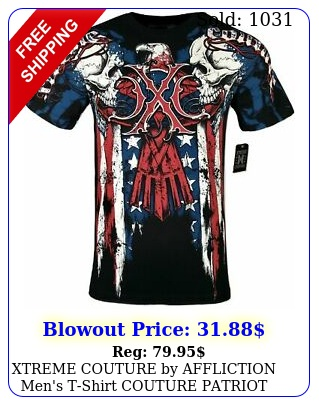 xtreme couture by affliction men's tshirt couture patriot tattoo biker mma s
