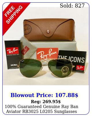guaranteed genuine ray ban aviator rb l sunglasses green mm len