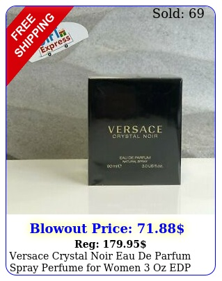 versace crystal noir eau de parfum spray perfume women oz ed