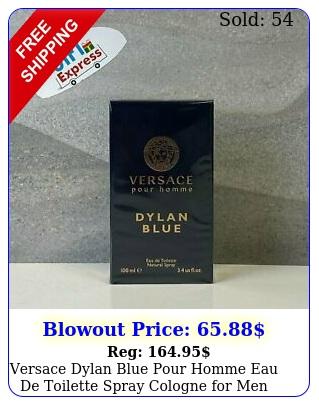 versace dylan blue pour homme eau de toilette spray cologne men o